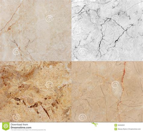 four different marble and granite texture high res