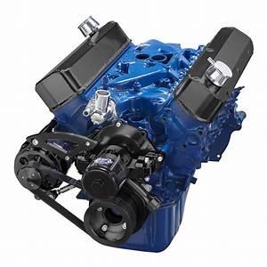 Black Ford 302 Windsor Serpentine Pulley System