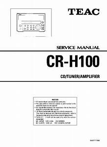 Download Teac Cr-h100 User Manual