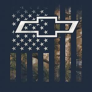 3496 - Buck Wear Chevy Camo Flag T-Shirt - Total Image