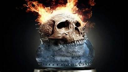 Skull Fire Cool Animated Wallpapers Moving Skulls