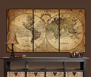 20 choices of antique map wall art wall art ideas for Antique wall decor
