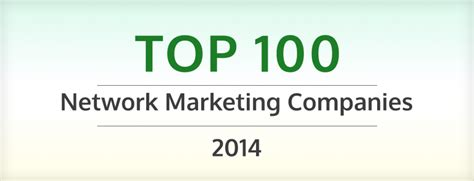Top Marketing Companies by Top 100 Network Marketing Companies 2014 Network