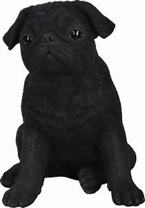 Black Pug - Resin Garden Ornament