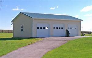 pole building garages garage builders in pa With 3 car pole barn