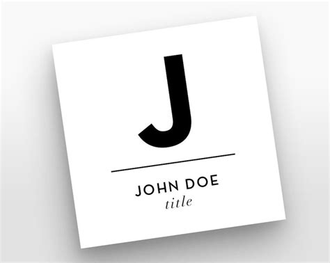 Mini Square Business Card Psd Templates