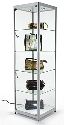 locking curio cabinet tempered glass curio cabinet with 6 halogen lights free 3835