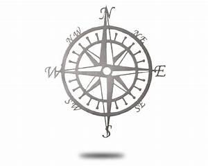 Brushed Aluminum Compass - Hex Head Art