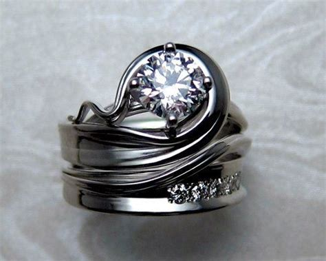 handcrafted custom made unusual and unique engagement rings fashion pinterest