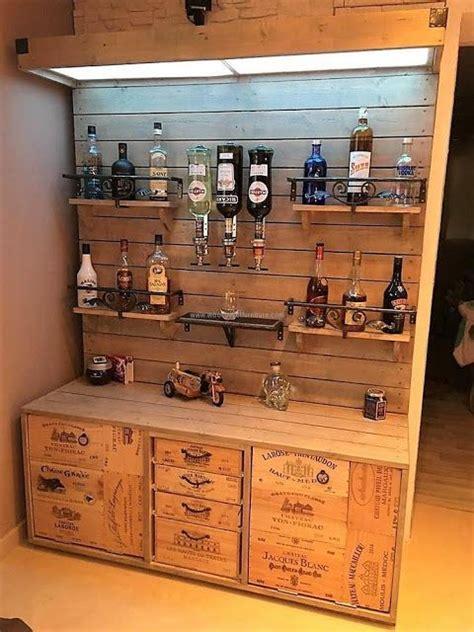 wooden pallet bar plan wood pallet bar home bar designs
