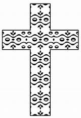 Coloring Printable Cross Pages Crosses Christian Mosaic Adult Flower Hubpages Cliparts Library Clipart Pattern sketch template