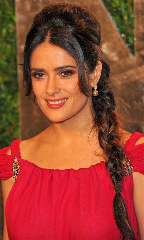Salma Hayek Hairstyles: Long Braided Hairstyle   Pretty