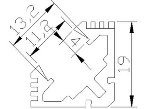 perfil de aluminio angular  grados  metro