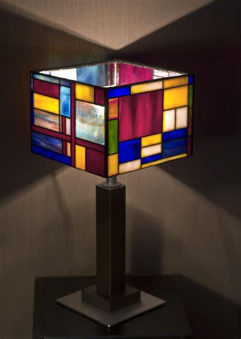 stained glass lamp mondrian  zyklodol  deviantart