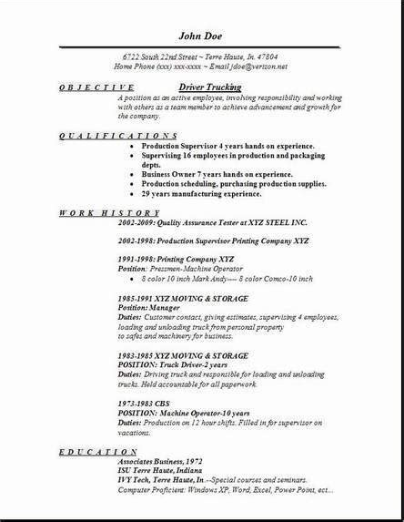 taxi driver resume sle