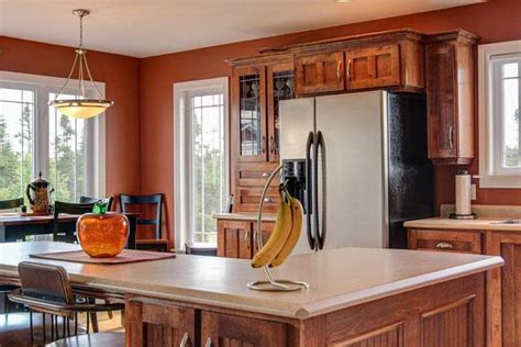 kitchen wall paint colors with cherry cabinets