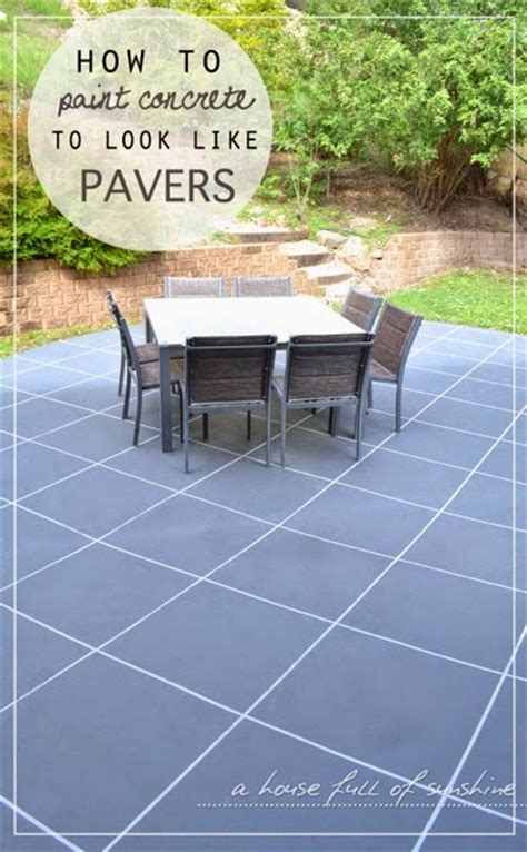 backyard makeover how to paint concrete to look like