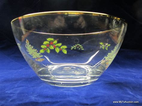 parade 9 salad bowl 9 quot clear glass christmas tree salad bowl