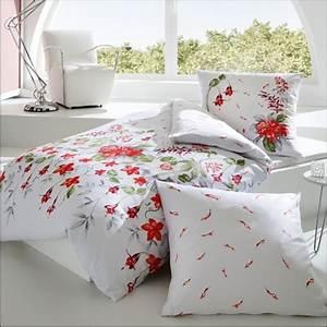 Moderne Bettwäsche 155x220 : kaeppel mako satin bettw sche 155x220 cm design paradiesgarten 44267 wei blumen ebay ~ Markanthonyermac.com Haus und Dekorationen
