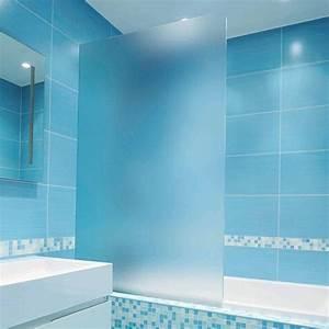 film adhesif depoli incolore pour paroi de douche With carrelage adhesif salle de bain avec lumiere a led exterieur