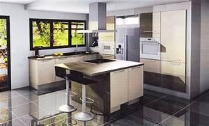 idee deco cuisine grise 1 indogate deco noir et blanc With deco noir et blanc chambre