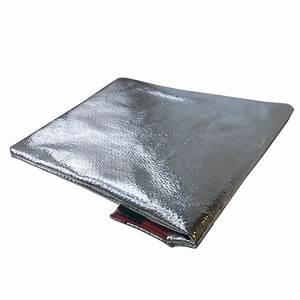 Fire resistant document pouch with mylar facing for Fireproof bag for documents with mylar facing