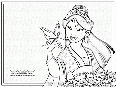 Mulan Coloring Pages Az