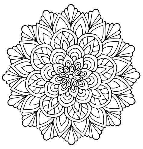 mandala flower  leaves malas adult coloring pages