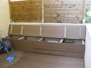 Coffre De Terrasse : terrasse bois pas a pas jardin et terrasse pinterest terrasses escaliers et banc bois ~ Melissatoandfro.com Idées de Décoration