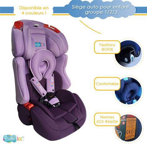solde siege auto groupe 1 2 3 siège auto évolutif isofix bébélol pour enfant groupe 1 2