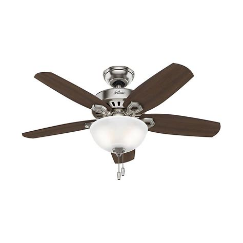 small kitchen ceiling fans hunter builder small room 42 in indoor brushed nickel