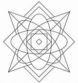 Kaleidoscope Coloring Pages Simple Printable Drawing Puzzle Categories sketch template