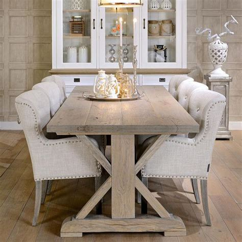 rustic grey dining table hoxton oak white farmhouse dining table 4976