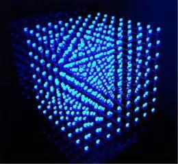 3D LightSquared 8x8x8 LED Cube White LED blue Ray DIY Kit