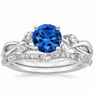 sapphire willow diamond ring with luxe willow diamond With wedding ring sapphire
