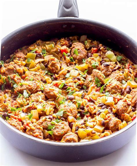 one pot rice with chorizo recipe sausage pasta recipes and sausage pasta