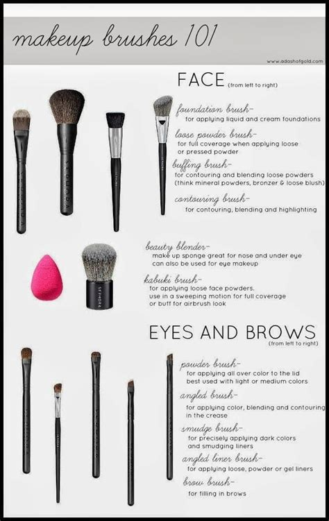 A Dash Of Gold Into To Makeup Brushes Makeup