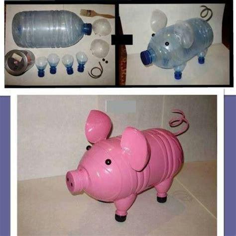 alcanc 237 a de cerdito con pet diy reciclaje animal projects pop bottles and