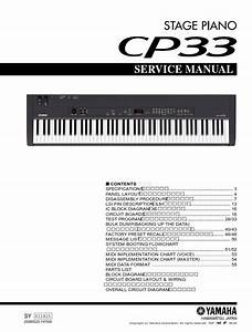 Yamaha Cp33 Stage Piano Service Manual  U0026 Repair Guide