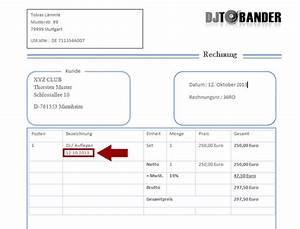 Wann Verjährt Eine Rechnung : dj rechnungsvorlage template download im ms word format ~ Themetempest.com Abrechnung