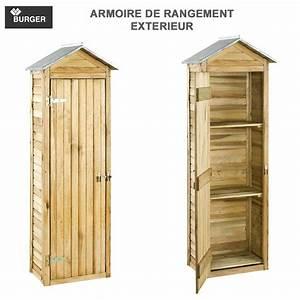 Armoire De Rangement : armoire de rangement de jardin 63 x 43 x 181 cm burger jardipolys ~ Teatrodelosmanantiales.com Idées de Décoration