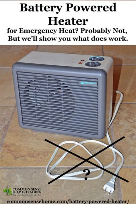 battery operated heat l do battery powered space heaters or emergency heaters