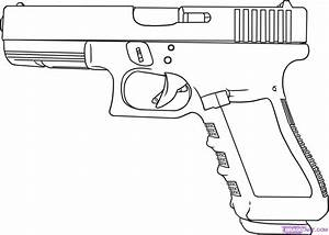 How To Draw A Gun, Step by Step, guns, Weapons, FREE ...
