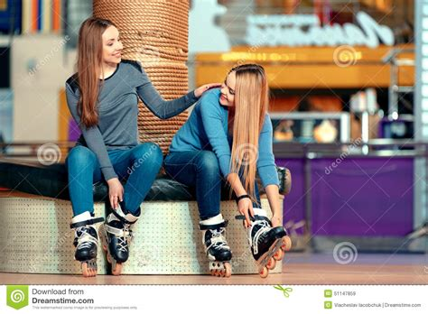 Beautiful Girls The Rollerdrome Stock Image