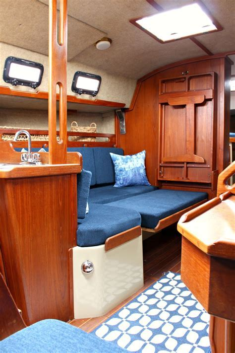 Ahoy! Tour Our Updated Ticon 30 Sailboat Interior   Dans