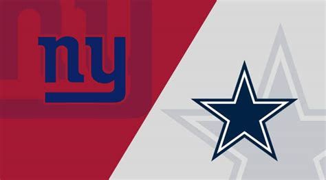New York Giants vs. Dallas Cowboys Matchup Preview (10/11 ...