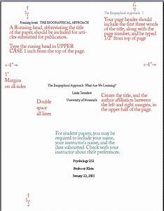 Title Pages For Apa Style Manuscripts