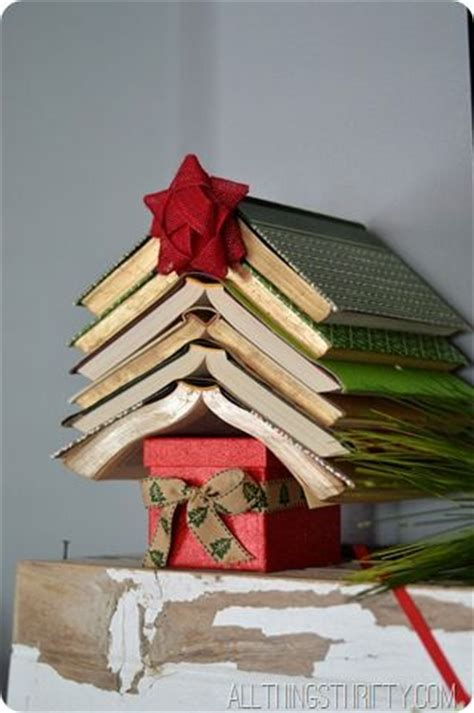 christmas crafts  decorations book themed ideas  book