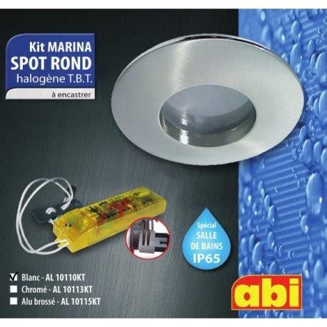 kit spot abi rond blanc halog 232 ne salle de bain a encastrer ip65