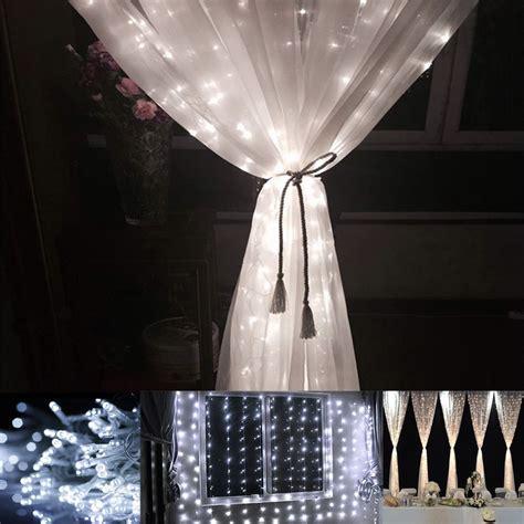 string light curtain panel bedroom indoor outdoor mini lights